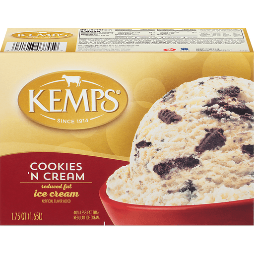 Kemps® Cookies 'n Cream Reduced Fat Ice Cream 1.75 qt. Carton
