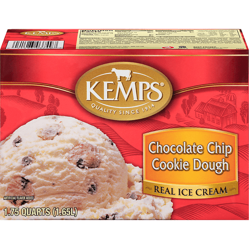 Kemps® Chocolate Chip Cookie Dough Real Ice Cream 1.75 qt. Carton