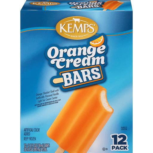 Kemps Family Classics Cream Bars, Orange, 12 Pack