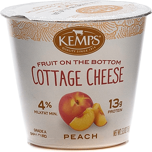 Kemps Peach Cottage Cheese