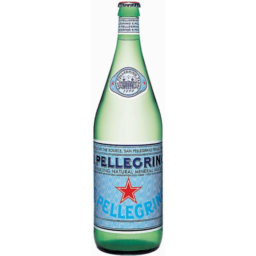 SANPELLEGRINO Sparkling Natural Mineral Water, 33.8-ounce glass bottle