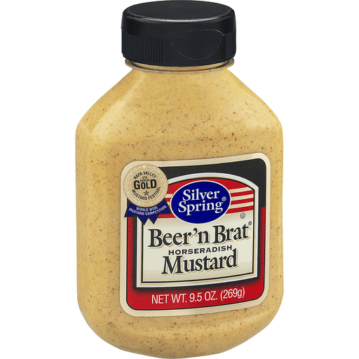 Silver Spring Mustard, Horseradish, Beer'n Brat