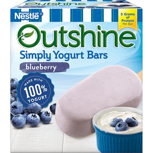 Nestle Outshine Simply Yogurt Bars Blueberry - 4 CT