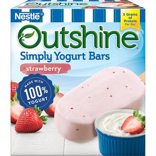 Nestle Outshine Simply Yogurt Bars Strawberry - 4 CT