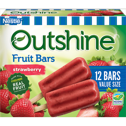 Outshine Strawberry Frozen Fruit Bars 12 Count Value Pack