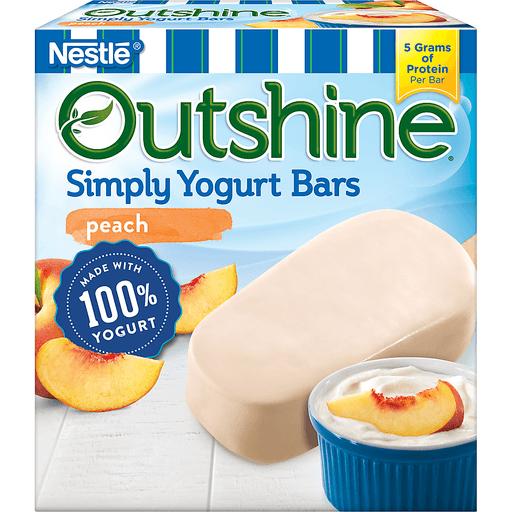 Nestle Outshine Simply Yogurt Bars Peach - 4 CT