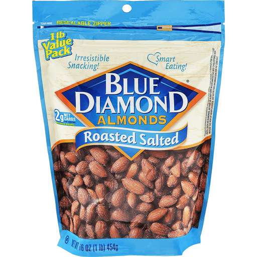 Blue Diamond Almonds, Roasted Salted, Value Pack