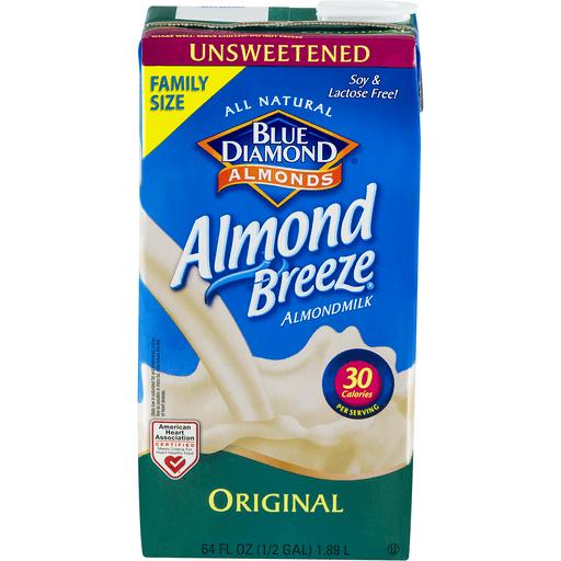 Blue Diamond Almondmilk, Original, Unsweetened, Family Size