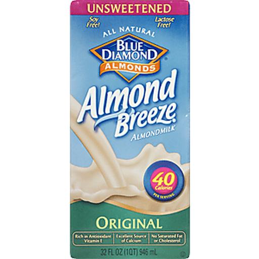 Blue Diamond Almond Milk, Original, Unsweetened