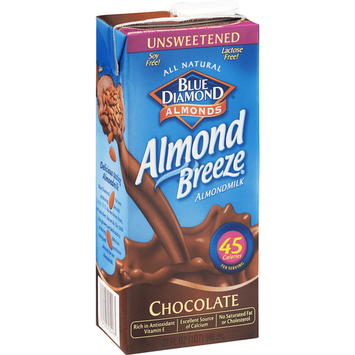 Blue Diamond Almond Milk, Chocolate, Unsweetened