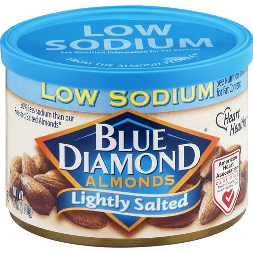 Blue Diamond Almonds, Low Sodium, Lightly Salted
