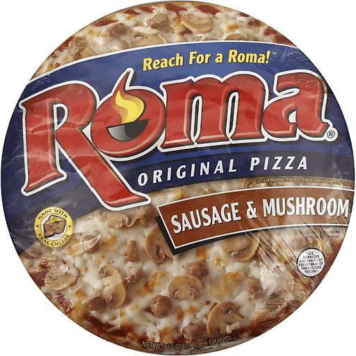 Roma Pizza, Original, Sausage & Mushroom, 11 Inch