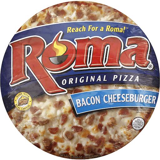 Roma Pizza, Original, Bacon Cheeseburger, 11 Inch
