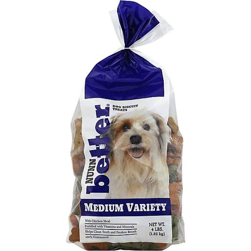 Nunn Better Dog Biscuit Treats, Medium Variety