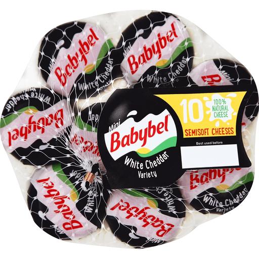 Babybel Semisoft Cheeses, Mini, White Cheddar, Variety