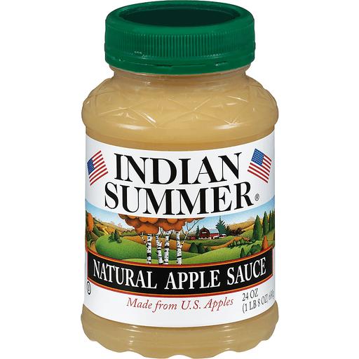 Indian Summer Apple Sauce, Natural