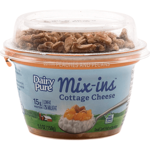 Dairy Pure Mix Ins Peach & Pecans