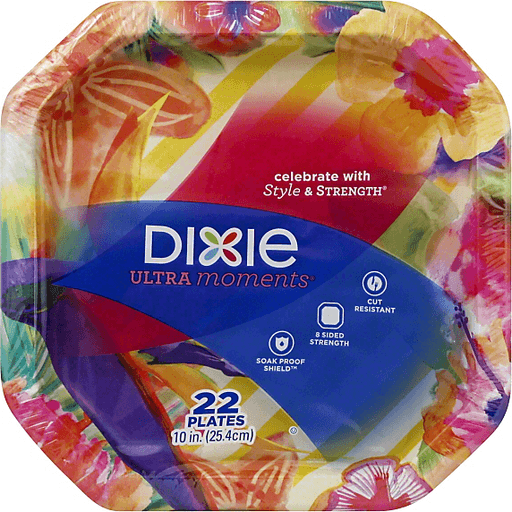 Dixie Ultra Moments Plates, 10 Inch