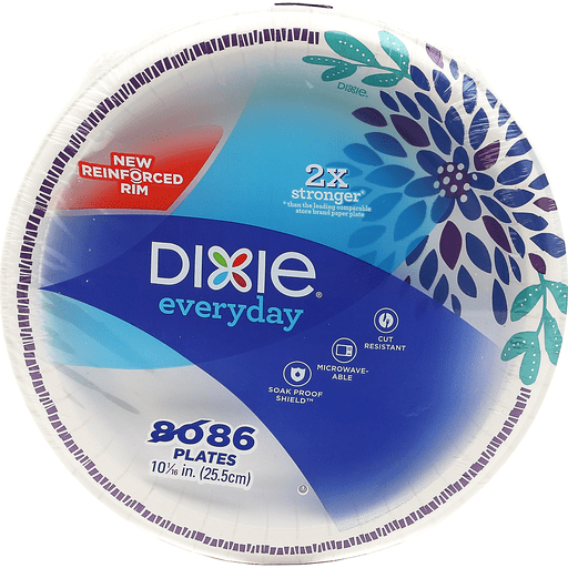 Dixie Everyday 10 1/16 in Plates - 86 CT