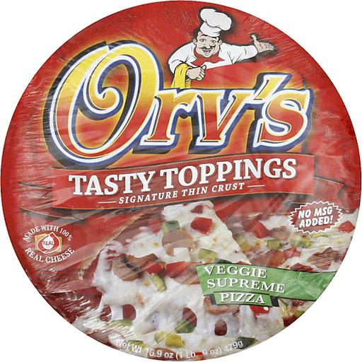 Orvs Tasty Toppings Pizza, Veggie Supreme, 12 Inch