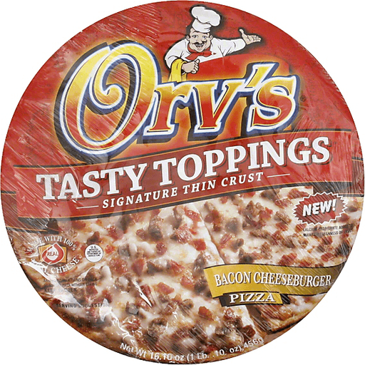 Orvs Tasty Toppings Pizza, Bacon Cheeseburger, 12 Inch