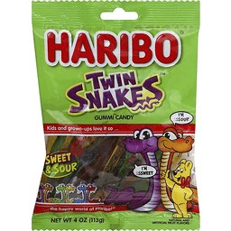 Haribo Gummi Candy Sweet Sour Twin Snakes Plainfield