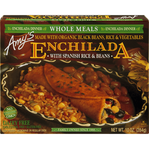 Amys Whole Meals Enchilada Dinner, with Spanish Rice & Beans