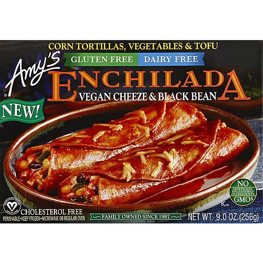 Amy's Vegan Cheese & Black Bean Enchilada