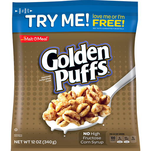 Malt-O-Meal® Golden Puffs® Sweetened Puffed Wheat Cereal