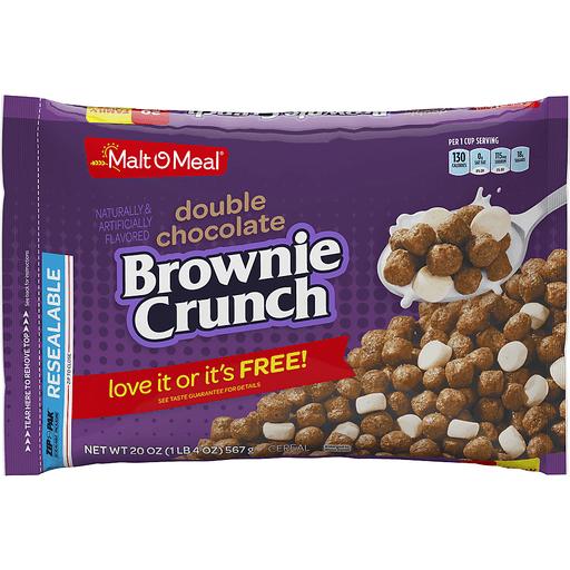 Malt-O-Meal® Double Chocolate Brownie Crunch Cereal 20 oz. ZIP-PAK®