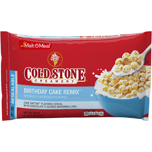 Superb Malt O Meal Cold Stone Birthday Cake Remix Cereal Cereal Foodtown Funny Birthday Cards Online Alyptdamsfinfo