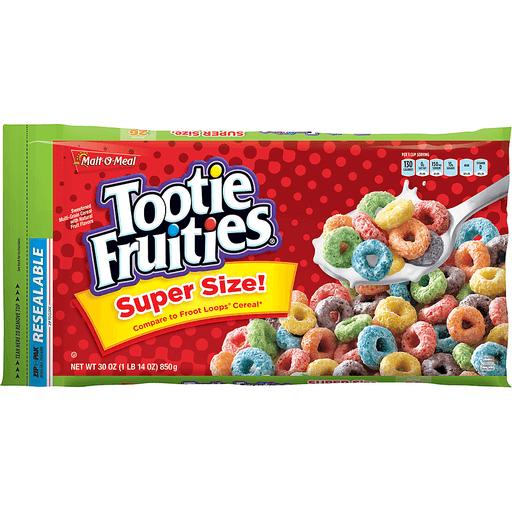 Malt O Meal Cereal, Tootie Fruities, Super Size!
