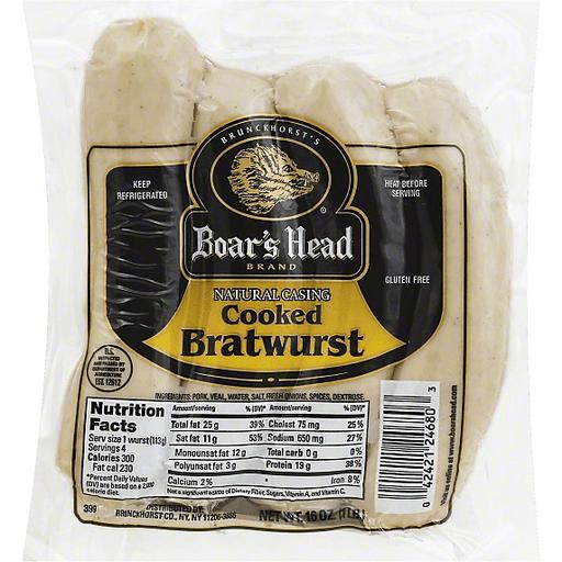 Boar's Head Bratwurst Cooked   Rastelli