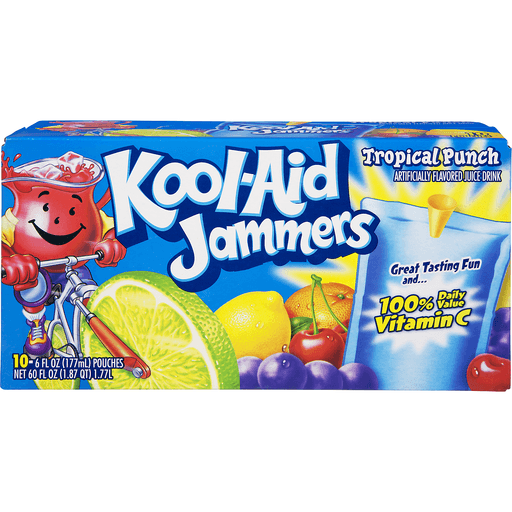 Kool Aid Jammers Drink, Tropical Punch