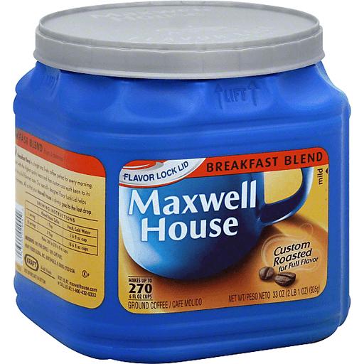 Maxwell House Coffee Ground Breakfast Blend Mild