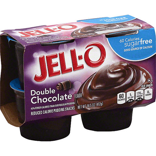 Jell O Pudding Snacks Reduced Calorie Double Chocolate Flavor Pudding Gelatin Price Cutter