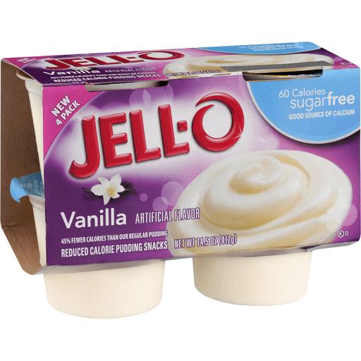 Jell O Pudding Snacks, Reduced Calorie, Sugar Free, Vanilla