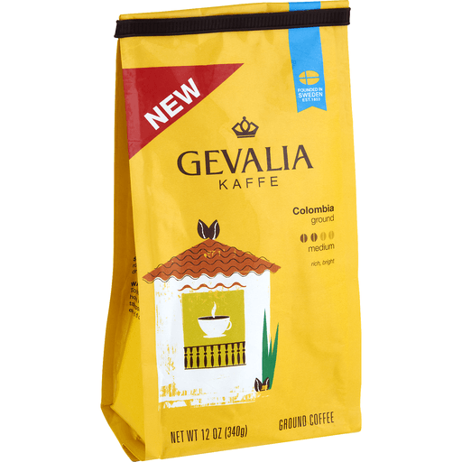 Gevalia Kaffe 100% Arabica Ground Coffee Medium Colombia