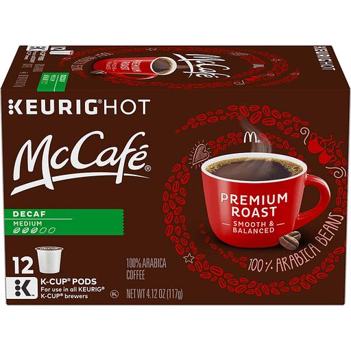 McCafe Keurig Hot Coffee, 100% Arabica, Medium, Premium Roast, Decaf, K-Cup Pods