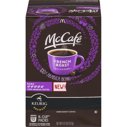 McCafe Keurig Hot Coffee, 100% Arabica, Dark, French Roast, K-Cup Pods