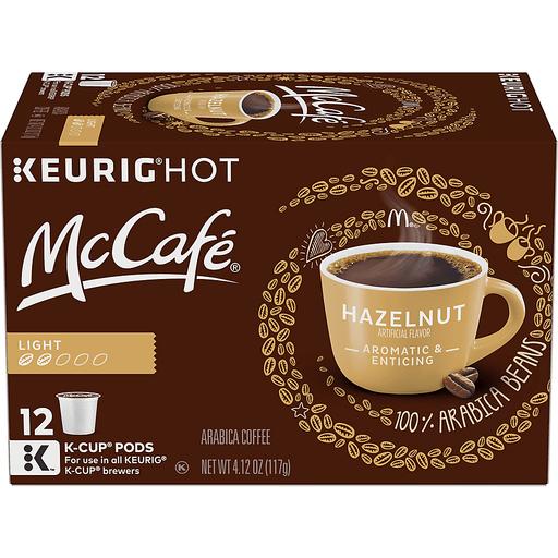 McCafe Coffee, Arabica, Light Roast, Hazelnut, K-Cup Pods