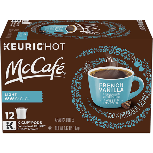 McCafe Coffee, Arabica, Light Roast, French Vanilla, K-Cup Pods