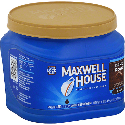 Maxwell House Coffee Ground Dark Dark Roast