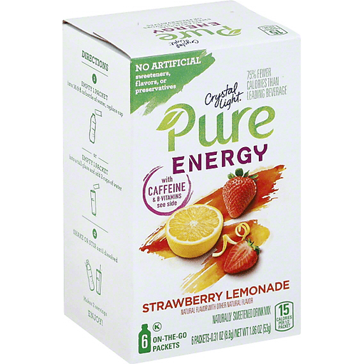Crystal Light Pure Energy Strawberry Lemonade On The Go Powdered