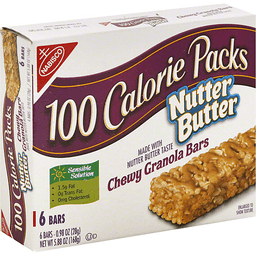 Nabisco 100 Calorie Packs Chewy Granola Bars Nutter Butter