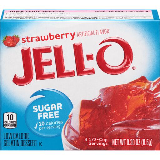 Jell-O Gelatin Dessert Sugar Free Strawberry