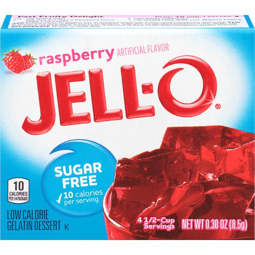 Jell-O Gelatin Dessert Sugar Free Raspberry