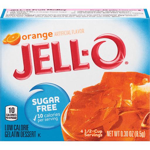 Jell-O Sugar Free Gelatin Dessert Orange