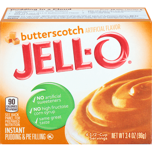 Jell O Pudding & Pie Filling, Instant, Butterscotch