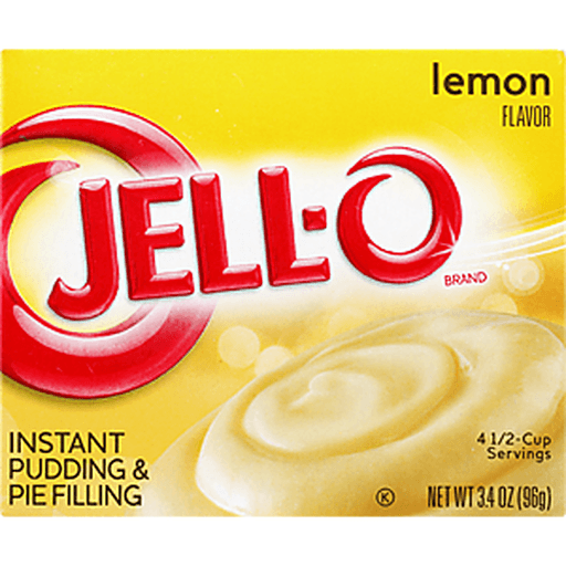 Jell O Pudding & Pie Filling, Instant, Lemon Flavor